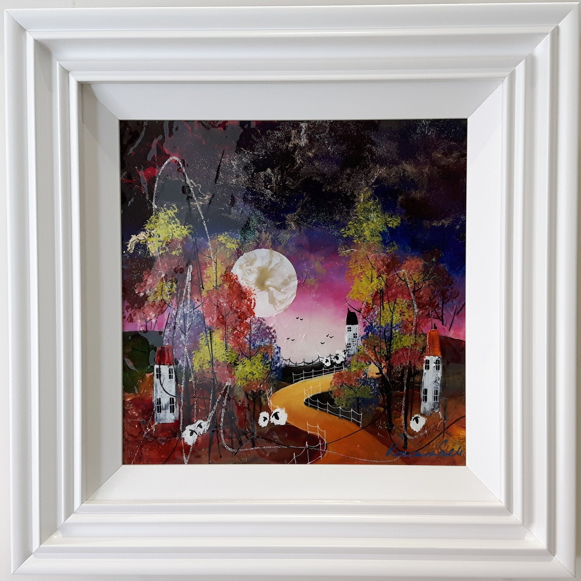 Moonlit Path II by Roz Bell