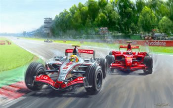 My Champion (Lewis Hamilton & Kimi Raikkonen) by Tony Smith