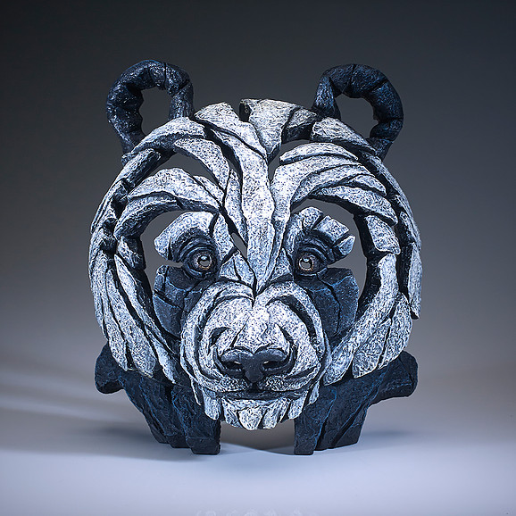 Panda - Bust by Edge Sculptures by Matt Buckley