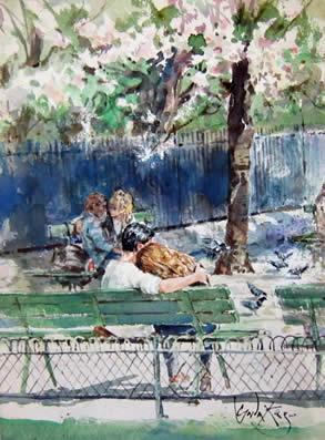 Paris Lovers by Gordon King