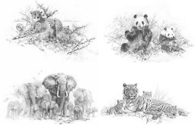Portfolio Set I & II (Set of 4) by David Shepherd