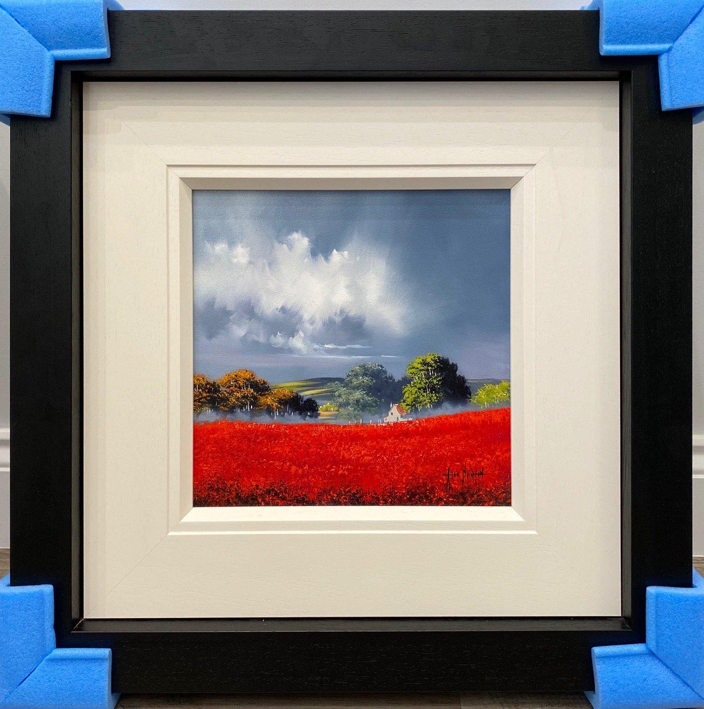 Red Fields IV (12 x 12) by Allan Morgan