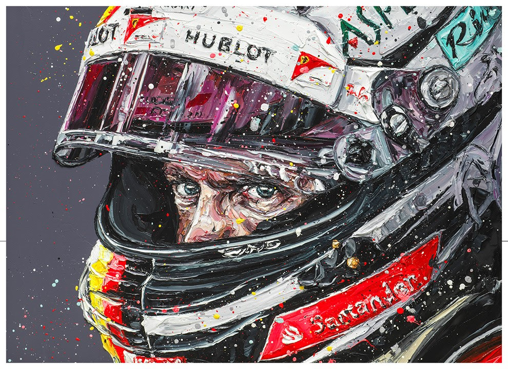 Seb Focused- Canvas by Paul Oz