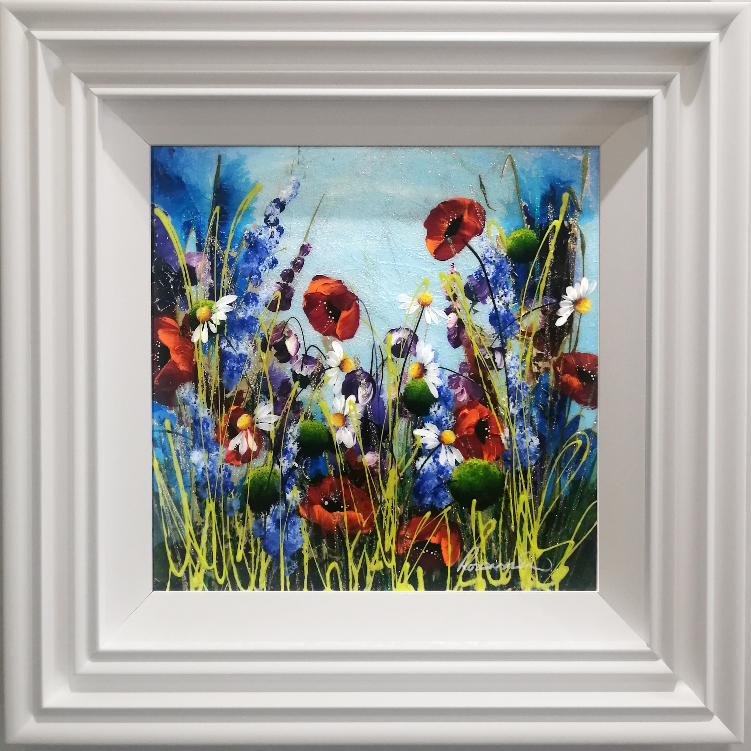 Spring Floral (16x16) by Rozanne Bell