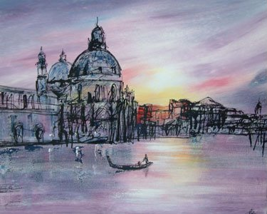 Stillness In Venice - Original by Paul Kenton