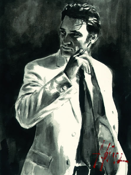 Study For Marcus In White by Fabian Perez