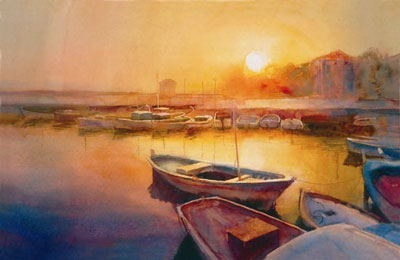 Sunset Kas by Cecil Rice