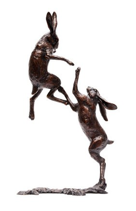The Boxing Hares by Michael Simpson