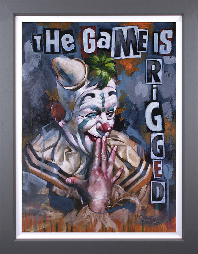 The Game is Rigged- Canvas Deluxe by Craig Davison