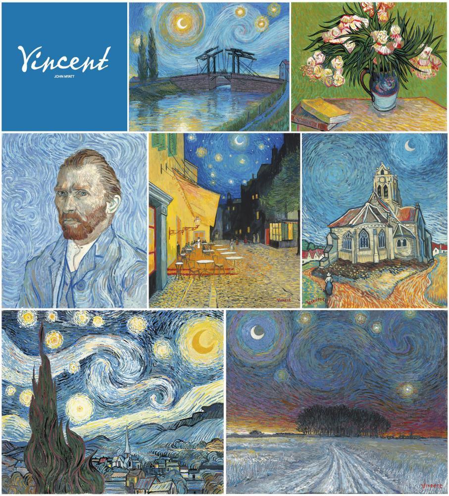 The Vincent Collection of 7 Framed Images by John Myatt