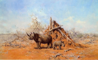 Tsavo Rhino By David Shepherd ★ You Save 17 07 Price 163 287 10