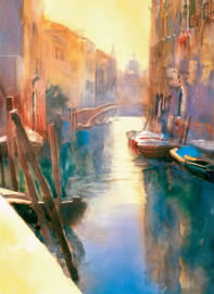 Venetian Canal I by Cecil Rice