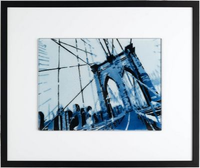 View Of Brooklyn Bridge - Blue by Louis Sidoli