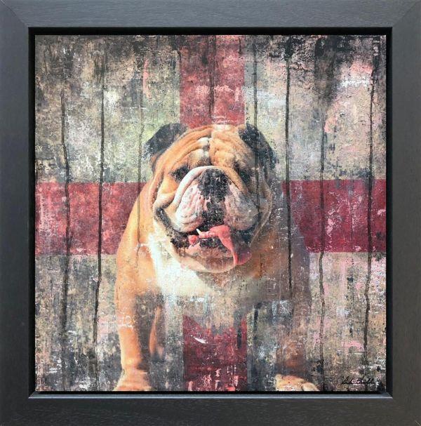 Vintage Bulldog II by Linda Charles