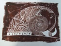Rock A/P 12 Lino Cut (brown)