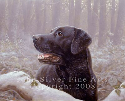 Black Labrador: Frozen Breath