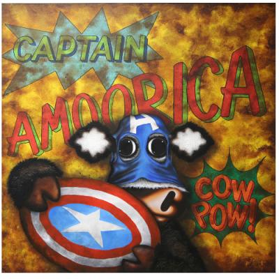 Captain Amoorica - Box Canvas