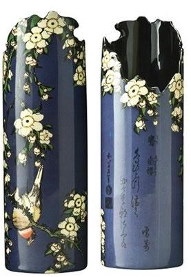 Hokusai Birds and Flowers - Vase