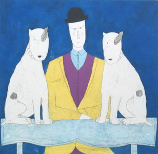 lady-two-dogs-blue-3675