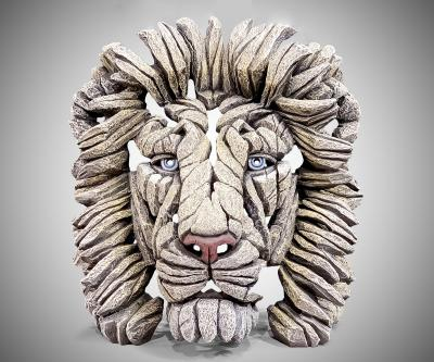 Lion Bust in White