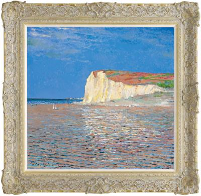 Low Tide At Pourville (In The Style of Claude Monet)