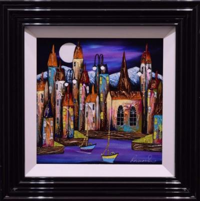 Moonlit Sail (16x16)