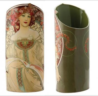 Mucha Reverie Art Nouveau Lady - Vase