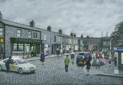 On The Cobbles- Canvas