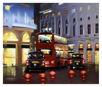 Piccadilly Night Adventure - Canvas