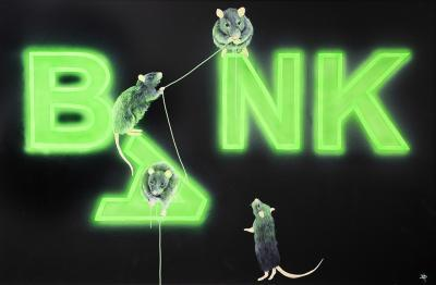 Rats Fixing the Bank