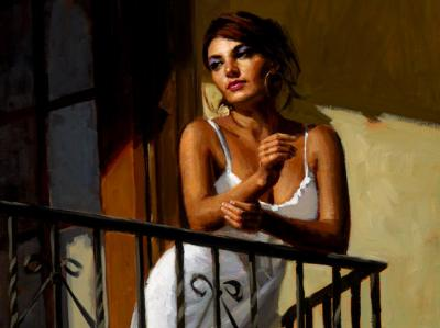 Saba At The Balcony VII - White Dress
