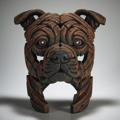 Staffordshire Bull Terrier Bust - Brindle