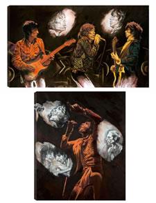 Stones Raw Panels I & II Set - Box Canvas Edition