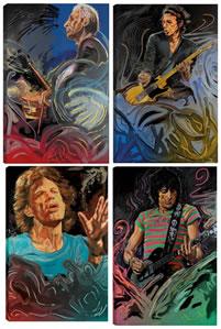 The Blue Smoke Suite - Portfolio of Four Canvas Edition