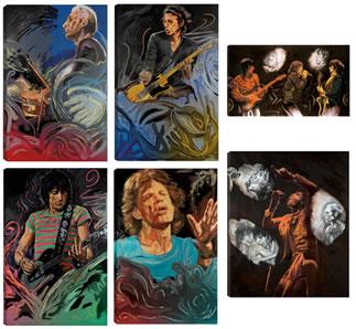 The Blue Smoke Suite Portfolio  &  Stones Raw Panels  I & II - Canvas Edition