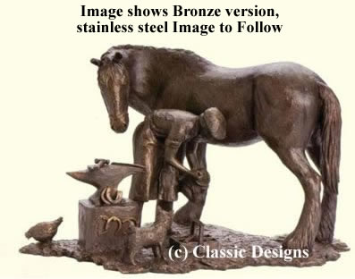 The Old Forge - Stainless Steel Sculpture