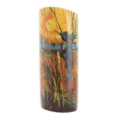 Van Gogh Willows At Sunset - Vase