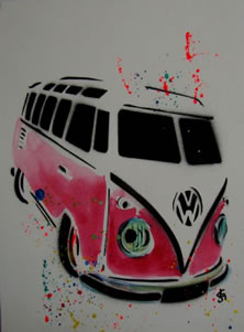 VW Camper - Purple