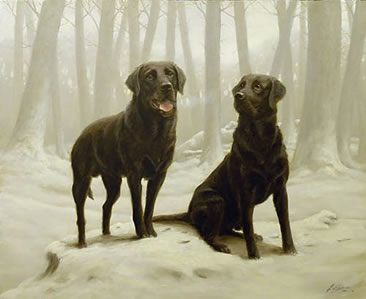 Winter Friends II - Black Labs