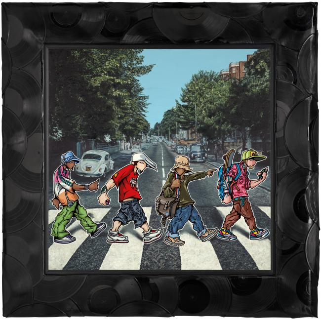 A B-boy Road (Canvas) by Temper