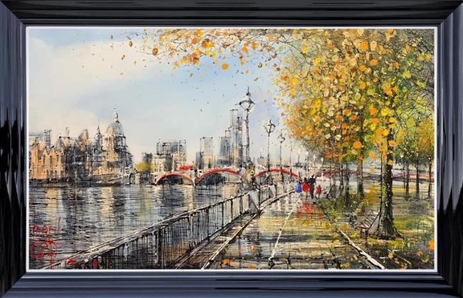 A Family Walk Down the Southbank by Nigel Cooke