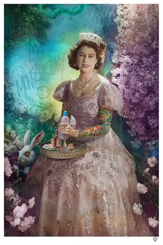 A Liz in Wonderland- White Frame by JJ Adams