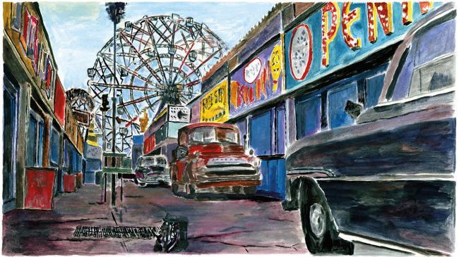 Amusement Park Alleyway by Bob Dylan