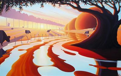 Avalon Sunset by Derrick Fielding