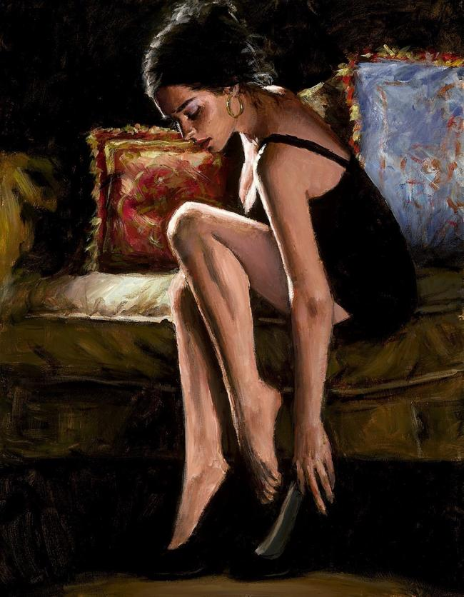 Blue & Red III by Fabian Perez