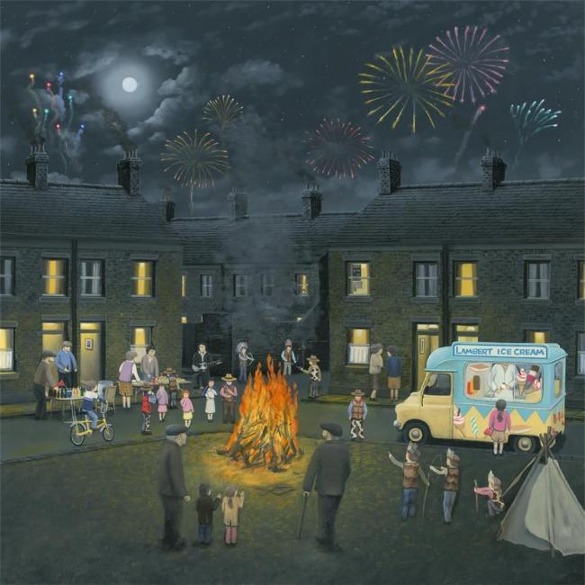 Bonfire Lights- Canvas by Leigh Lambert