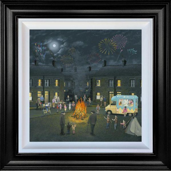 Bonfire Lights- Canvas Deluxe by Leigh Lambert