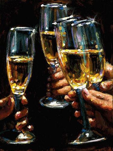 Brindis Con Champagne by Fabian Perez