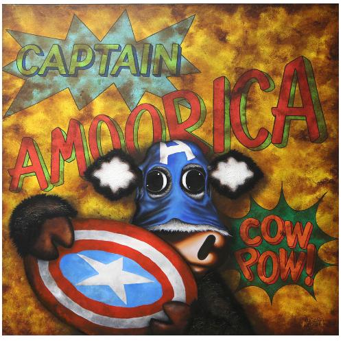 Captain Amoorica - Aluminiumby Caroline Shotton