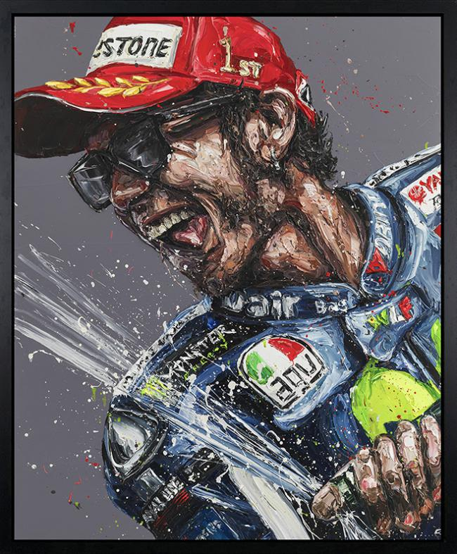 Champagne Rossi- Hand Embellished Canvas by Paul Oz